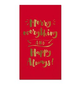 Slant Christmas Paper Guest Towels 16pk-Foil Merry Everything Happy Always
