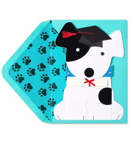 Papyrus Greetings Graduation Card Die-Cut Dog Grad by Papyrus