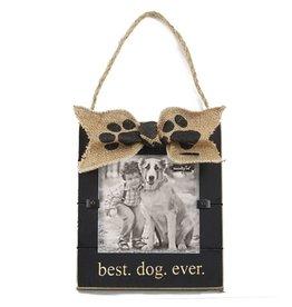 Mud Pie Pet Photo Frame Best Dog Ever 7x6 inch 4695105B by Mud Pie Gifts