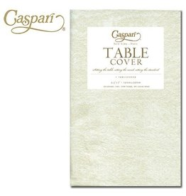 Caspari Caspari Table Covers Moire 9717TCP Ivory Tablecover 54x84 inch