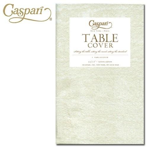 Caspari Caspari Table Covers Moire 9717TCP Ivory Tablecover 54x84 Inch ...