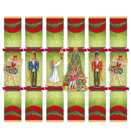 Caspari Christmas Crackers CK063.12 Set of 6 Christmas Ballet 12.5in Crackers