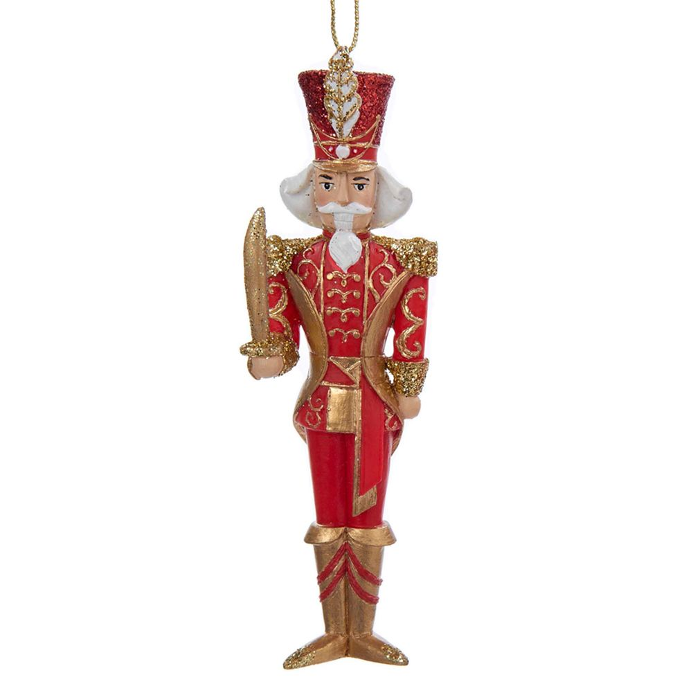 kurt adler christmas ornament red and gold nutcracker soldier c8858 a kurt adler - Christmas Soldier