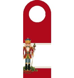 Caspari Wine Bottle Tags  Nutcracker Set of 6