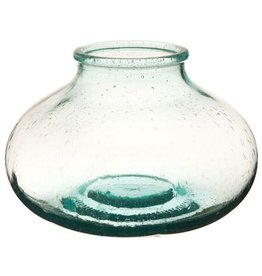 Vietri Recycled Glass Shallow Bottle Vase RYG-1810