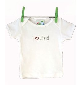 Mama and Bambino I Love Dad - White Bling Tee by Mama and Bambino