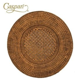 Caspari Rattan Chargers HDP01 Round Charger