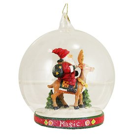 Mary Engelbreit Ornament Glass Globe Scene 36-34264-C Magic