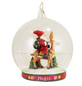 Ornament Glass Globe Scene 36-34264-C Magic