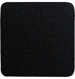 Caspari Coasters Felt Backed 88906CC Ostrich - Black Coaster Set