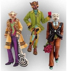 Alley Cats Margaret Le Van Set of 3 Male Alley Cats Figurines