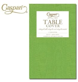 Caspari Caspari Table Covers Moire 9729TCP Lime Tablecover 54x84 inches