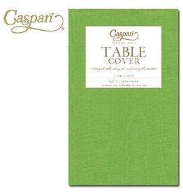 Caspari Caspari Table Covers Moire 9729TCP Lime Tablecover 54x84 inches