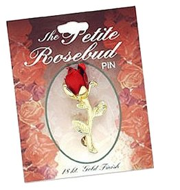 DM Merchandising Lapel Pin The Petite Rosebud Lapel Pin w 18K Gold Finish