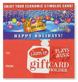 DM Merchandising Holiday Gift Card Holder w Lights N Music - Countrys Debt Crisis