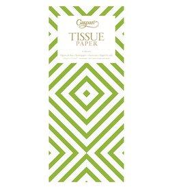 Caspari Gift Tissue Paper Chevron Green 4 Sheets 8914TIS