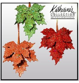 Katherine's Collection Fall Autumn 18-82082 Encrusted Maple Leaf Set