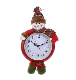 Kurt Adler Christmas Clock 17.5 inch Battery Operated Snowman Clock