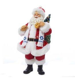 Kurt Adler Fabriche Santa Christmas Tablepiece Jewish Santa Holding Dreidel C7454