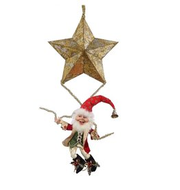Mark Roberts Fairies Elves 51-68402-A Hanging Elf With Star 23.5 inch