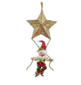 Mark Roberts Fairies Elves 51-68402-D Hanging Elf With Star 23.5 inch