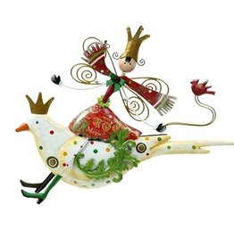 Mark Roberts Christmas Decorations Festive Fairy on Bird Ornament-WH