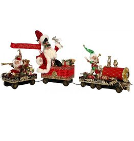 Mark Roberts Fairies Santas 51-68414 Santa on Train Set of 3