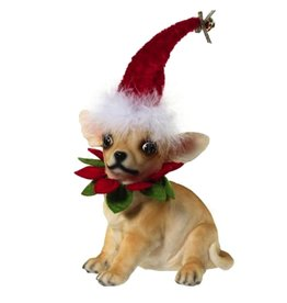 Mark Roberts Christmas Decorations Festive Chihuahua Dog Sitting