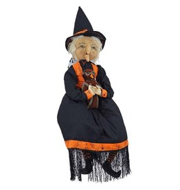 Gallerie II Joe Spencer Gathered Traditions Collection Joe Spencer Gathered Traditions Halloween FGS70900 Mabel Witch Doll