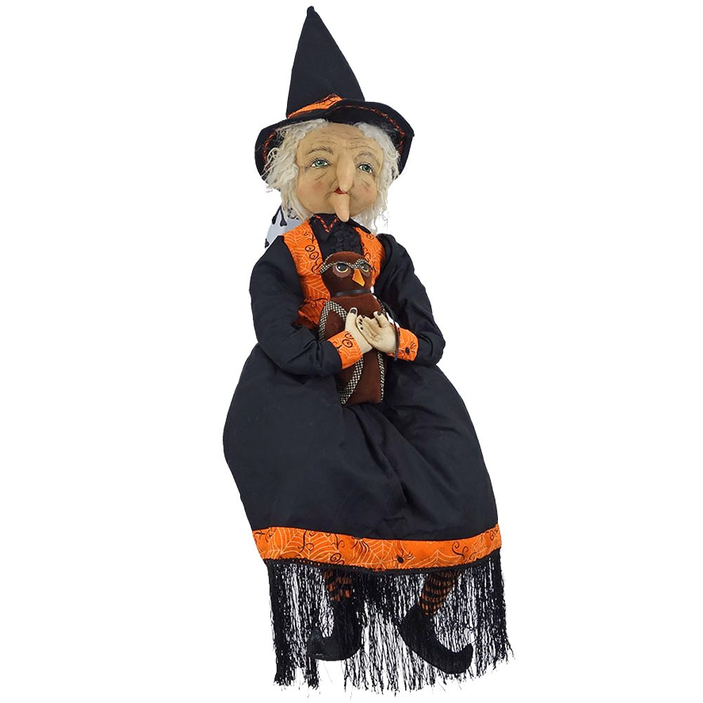 Joe Spencer Gathered Traditions Halloween FGS70900 Mabel Witch Doll ...