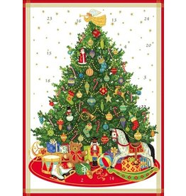 Caspari Advent Calendar Card ADV252C Oh Christmas Tree