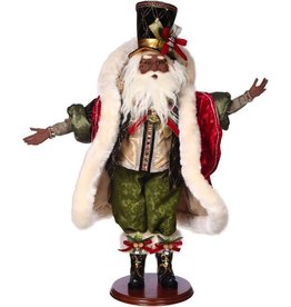 Mark Roberts Fairies Santas African American Black Santa On The Town 51-68355