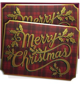 Papyrus Greetings Boxed Christmas Cards Merry Christmas Plaid by Papyrus 14pk