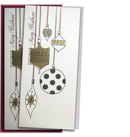 Papyrus Greetings Boxed Christmas Cards Black White Ornaments by Papyrus 16pk