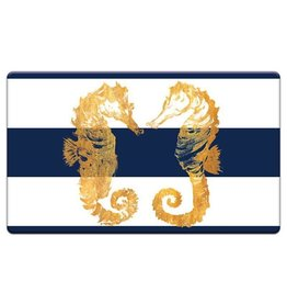 Cala Home Anti Fatique Floor Mat 30x18 inch 77901 Nautical Seahorses