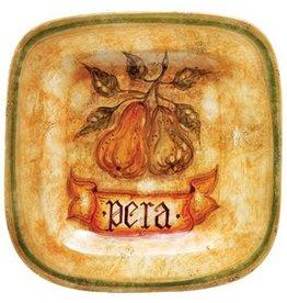 Vietri Botanica Pear Italian Wall Plate Italian BTA-3227 Vietri
