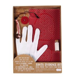 Mud Pie Santa Evidence Kit w Santa Glove Glasses Button Bell Footprint Stencil