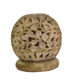 Et Al Designs Carved Sphere Tea Light Holder Sm by Et Al Designs