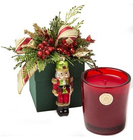 LUX Candles Fragrances Christmas NUTCRACKER 14oz Candle in Flower Box