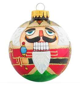 Kurt Adler Nutcracker Glass Ball Christmas Ornaments 65mm Set of 4