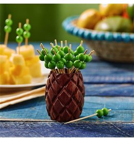Twos Company Pineapple Toothpick Holder w 25 Beaded Picks 51288 Twos Company