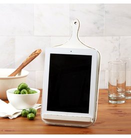 Twos Company Cutting Board Shaped Tablet iPad Stand 50715