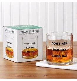 Twos Company Good Day 16oz Double Old Fashion Glass 51041