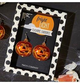 Twos Company Halloween Fright Night Earrings Pumpkins 80467-20-B