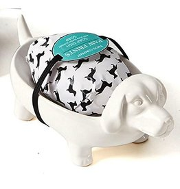 Twos Company Dog Soap Dish w Shea Butter  Soap Gift Set by Twos Company