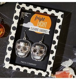 Twos Company Halloween Fright Night Earrings Skulls 80467-20-A Twos Company
