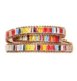 Twos Company Beaded Trim Wrap Snap Closure Bracelet by 2 Chic 11544-D