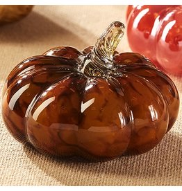 Twos Company Murano Style Mini Glass Pumpkin 3Wx2.25T Brown