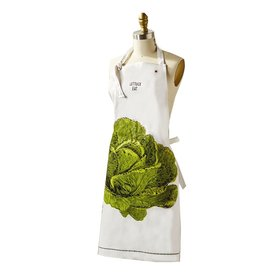 Twos Company Apron Gift Packaged in Mason Jar 25Wx33H Lettuce Eat