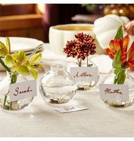 Twos Company Be Seated Place-card Holder Glass Bud Flower Vases Set 4